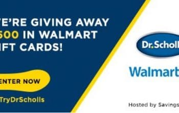 $50 Walmart Gift Card Giveaway – 10 Winners (Ends 8/27) + $10 off Dr. Scholls Coupon!