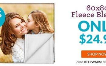 Custom Photo 60×80 Fleece Blanket Only $24.99! (reg $69.99) Ends 3/19