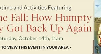 FREE Storytime & Activities at Barnes & Noble on October 14th!