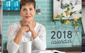 FREE 2018 Joyce Meyer Ministries Calendar!