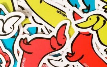 FREE SCOUT Daschund Stickers