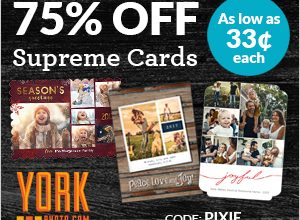 75% Off Supreme Cards – Save Up To $129 (as low as $0.33 each!)