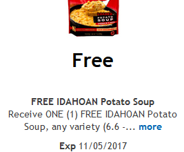 FREE Idahoan Potato Soup for Kroger (and affiliate) Shoppers!