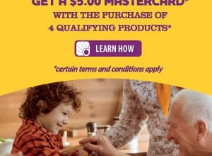 FREE $5 Mastercard w/ Purchase of 4 SC Johnson Products