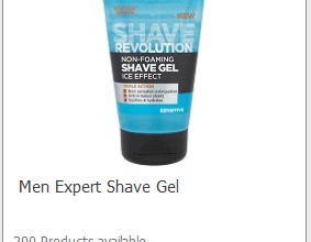 FREE L'oreal Men Shave Gel (sign up now!)
