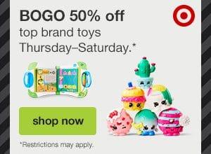 Target: BOGO 50% off Toys!!