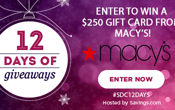#SDC12Days Giveaway: Enter to Win a $250 Macy's Gift Card!
