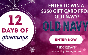 #SDC12Days Giveaway: Enter to Win a $250 Old Navy Gift Card!