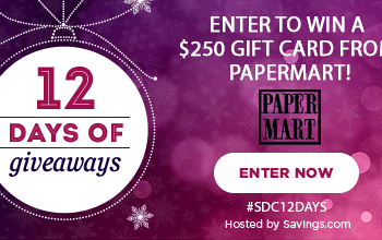 #SDC12Days Giveaway: Enter to Win a $250 PaperMart Gift Card!