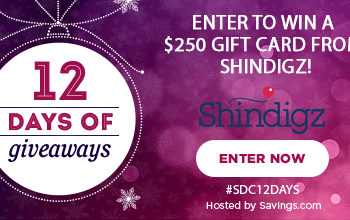 #SDC12Days Giveaway: Enter to Win a $250 Shindigz Gift Card!