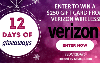 #SDC12Days Giveaway: Enter to Win a $250 Verizon Wireless Gift Card!