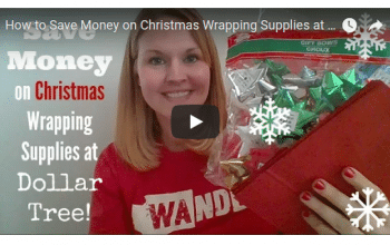 YouTube Video: How to Save Money on Gift Wrapping Supplies at Dollar Tree