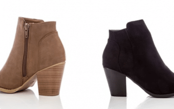 Zip Up Stacked Heel Ankle Booties | Free Shipping – Was $44.99 – Now $26.99