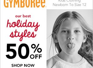 50% Off Entire Purchase at Gymboree + Free Shipping
