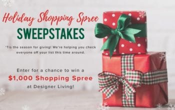 Designer Living Holiday Shopping Spree Sweepstakes (Ends 11/26)
