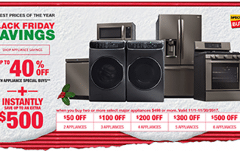 Black Friday Savings: Up to 40% off appliances + instantly save up to an extra $500 at The Home Depot
