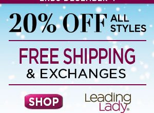 Leading Lady: 20% Off Everything + Free Shipping, Returns & Exchanges
