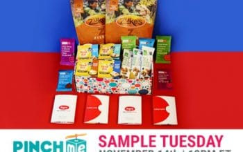 PINCHme FREE Samples Available Tuesday 12/12 at 12PM EST