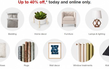 Target: up to 40% off Home (12/4 Only)