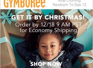 50% Off Everything at Gymboree + Order by 12/18 for Christmas Delivery