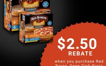 Buy Red Baron® Deep Dish Pizzas at Sam's Club and Earn $2.50!
