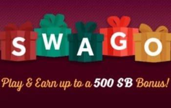 SWAGO: Play & Earn up to a 500 SB Bonus!