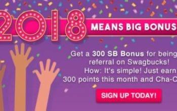 Swagbucks: Earn a $3 Bonus this Month! (My Lifetime Earnings: 79,383 SB)