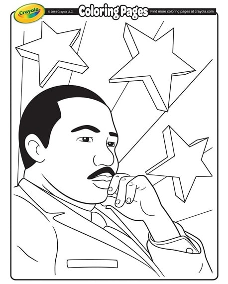 Free printable martin luther king jr coloring page jan for Martin luther king jr coloring pages to print