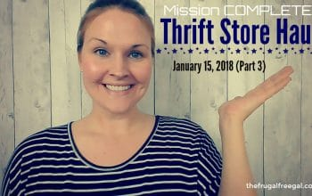 YouTube Video: Thrift Store Haul (Part 3) Mission COMPLETE!
