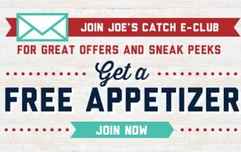 FREE Appetizer at Joe's Crab Shack