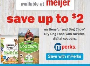 Save on Purina Dog Food at Meijer!