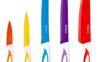 5-piece Ebaco Colorful Knife Set Only $6.49!