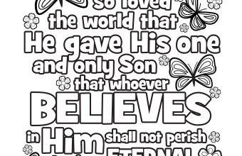 FREE Printable John 3:16 Coloring Page