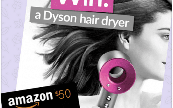 Enter to Win a Dyson Supersonic Hair Dryer OR a $50 Amazon Gift Card (ends 4/20)