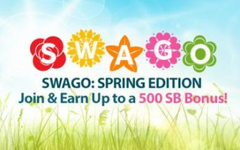 SWAGO: Spring Edition – Join & Earn up to a 500 SB Bonus!