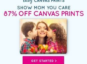 All Canvas Prints 87% Off (16″ x 20″ Canvas only $20.34!)
