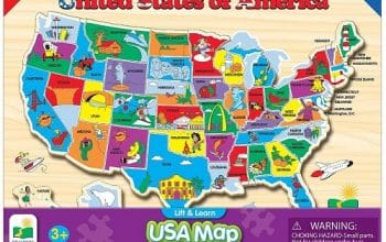 Lift & Learn USA Map Puzzle Only $8.46! (reg $16.99)