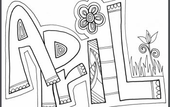 FREE Printable Month of April Coloring Page