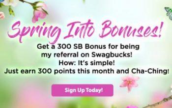 Get 300 Bonus Swagbucks When You Sign up for Swagbucks in April!