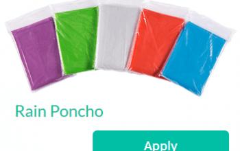 Trybe Sampling Opportunity: Rain Ponchos
