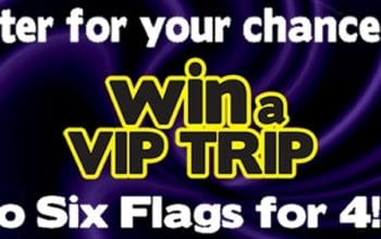 Enter to Win a Trip for 4 to a Six Flags Theme Park (ends 6/30)