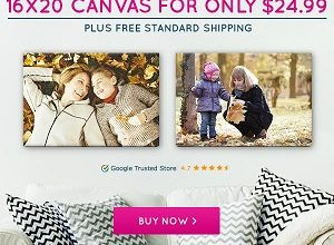 16″ x 20″ Canvas only $24.99!