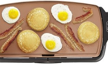 Bella Ceramic Copper Titanium Electric Griddle Only $14.99! (reg $29.99)