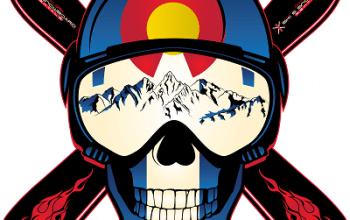 FREE Colorado Ski Skull Sticker