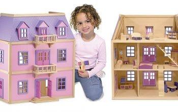 Melissa & Doug Wooden Dollhouse + Furniture Only $80.68 Shipped! (reg $149.99)