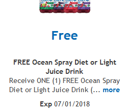 FREE Ocean Spray Juice Drink for Kroger (and affiliate) Shoppers!