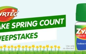 "Zyrtec ""Make Spring Count"" Sweepstakes/Instant Win Game (Ends 6/22)"