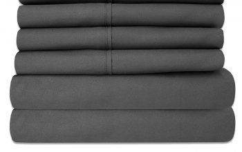 Amazon: Sweet Home Collection 6 Piece King Bed Sheet Set (Gray) only $19.99 (Reg. $33)