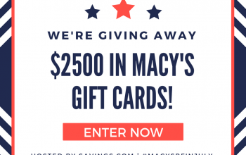Macy's Gift Card Giveaway – 50 Winners! (Ends 7/15)