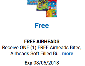 FREE Airheads for Kroger (and affiliate) Shoppers!